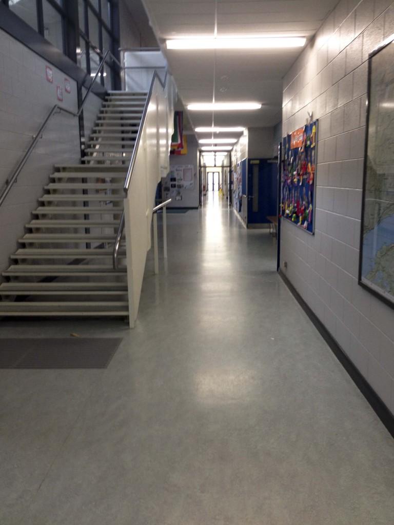 School corridor downstairs
